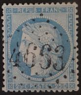 60A Obl BUREAU SUPPLEMENTAIRE GC 4663 Ballan (36 Indre & Loire ) Ind 10 - 1849-1876: Periodo Clásico