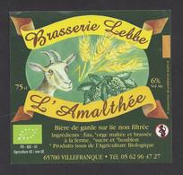 Etiquette De Bière De Garde  -  L'Amalthée  -  Brasserie  Lebbe à Villefranque (65) - Cerveza