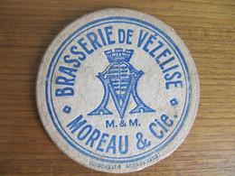 SOUS BOCK ANCIEN - BRASSERIE VEZELISE - MOREAU & CIE - M & M - Beibenguth Strasbourg - Sous-bocks