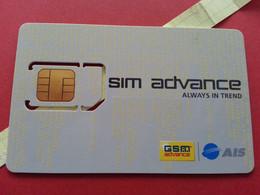 THAILAND SIM GSM Advance Evolution 4 - With Numbers USIM RARE Used (BH1219b5 - Thaïlande