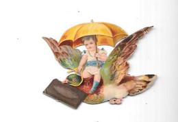 12181 - Découpi Enfant, Ombrelle, Oiseau - Children