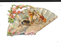 12182 - Découpi Eventail, Scène De Tauromachie, - Animals