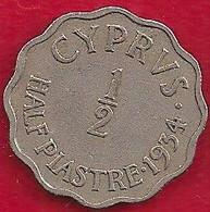 CHYPRE 1/2  PIASTRE - 1934 - Cyprus