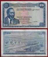 Kenya 20 Shillings 1973 Pick 8d VF (NT#01) - Kenya