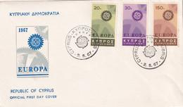 Cyprus 1967, FDC Europa Complete Set. Cv 6 Euro - Cartas