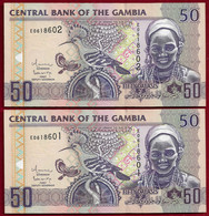 Gambia 50 Dalasis (2006) Pair Running Numbers Pick 28 (NT#01) - Gambia