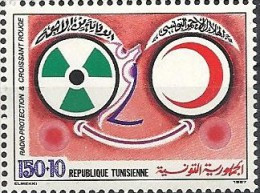 1987  Tunisie  N° 1078   Nf** .  Radioprotection Et Croissant Rouge - Tunisia