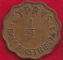 CHYPRE 1/2  PIASTRE - 1942 - Cyprus