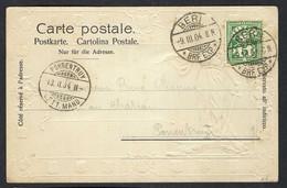 SUISSE 1904: CP Ill. De Berne Pour Porrentruy Avec Le ZNr. 65B - Covers & Documents