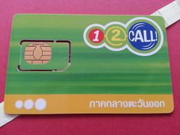 THAILAND SIM GSM 12Call AIS Gemplus 1 - With Numbers USIM RARE Used (BH1219b5 - Thaïlande
