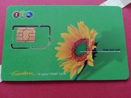 THAILAND SIM GSM 12Call Tournesol - With Numbers USIM RARE Used (BH1219b5 - Thaïlande