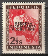 1949 Republik Indonesia 2,5 Sen Merdeka Djokjakarta MNH**/Postfris - Indonesia
