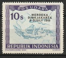1949 Republik Indonesia 10 Sen POS UDARA Merdeka Djokjakarta MNH ** - Indonesia