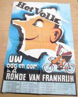 """Original Affiche """"Ronde Van Frankrijk 1963"""" Stefan Vermeersch, Het Volk - Collections"""