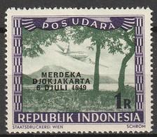 1949 Republik Indonesia 1R POS UDARA Merdeka Djokjakarta MNH** Postfris - Indonesia