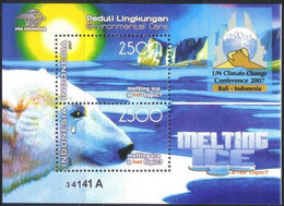 Indonesia 2007 ** Environmental Care - Polar Bears - United Nations Climate Change Conference 2007 Block MNH Postfris - Indonesië