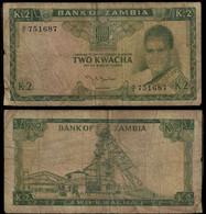 Zambia Banknote 2 Kwacha ND (1969) Pick 11a Sign.2 F (NT#01) - Zambia
