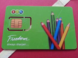 THAILAND SIM GSM 12Call Freedom Crayons - With Numbers USIM RARE MINT (BH1219b5 - Thaïlande