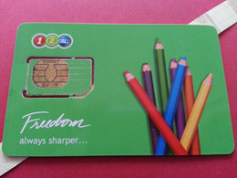 THAILAND SIM GSM 12Call Freedom Crayons 2 - With Numbers USIM RARE Used Not Perfect (BH1219b5 - Thaïlande
