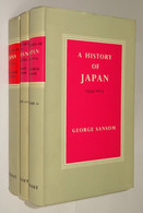 B0854[Boek] A History Of Japan [3 Vol.] George Sansom London Cresset [1965 1969 Geschiedenis Van Histoire Japon Du] - Asie