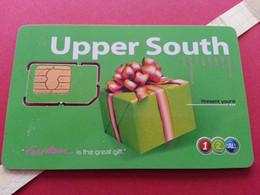 THAILAND SIM GSM 12Call Upper South Gift - With Numbers USIM RARE Used (BH1219b5 - Thaïlande