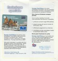 CARTA CREDITO SCADUTA 2008 VISA BANCA POPOLARE ROMAGNA EMESSA EUROPA CARD SHOW IN FOLDER - Carte Di Credito (scadenza Min. 10 Anni)