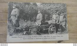 Association Francaise Pour Dressage Des Chiens De Guerre : Chariot A Mitrailleuse Transformant En Brancard - Guerra 1914-18