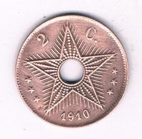 2 CENTIMES 1910 BELGISCH CONGO /3982/ - 1910-1934: Albert I