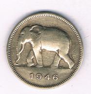 2 FRANCS 1946 BELGISCH CONGO /3983/ - 1945-1951: Regency