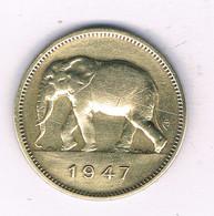 2 FRANCS 1947 BELGISCH CONGO /3984/ - 1945-1951: Regency