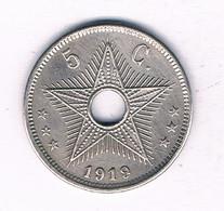 5 CENTIMES 1919 BELGISCH CONGO /3985/ - 1910-1934: Albert I