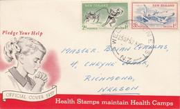 NOUVELLE ZELANDE LETTRE INTERIEURE FDC 1957 - Briefe U. Dokumente