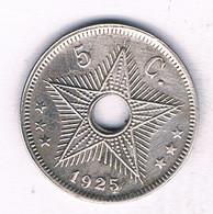 5 CENTIMES 1925 BELGISCH CONGO /3987/ - 1910-1934: Albert I