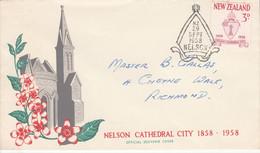 NOUVELLE ZELANDE LETTRE INTERIEURE FDC 1958 - Briefe U. Dokumente