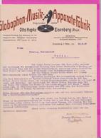 262058 / Germany 1927 Globophon Musikapparate Fabrik Otto Hopke Eisenberg/Thüringen , Deutschland Allemagne - 1900 – 1949