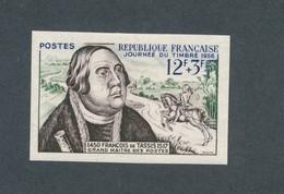 FRANCE - NON DENTELE N° 1054a) NEUF* AVEC CHARNIERE - 1956 - COTE : 40€ - Ongetand