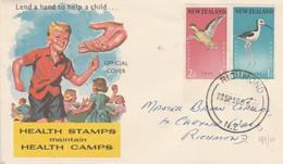 NOUVELLE ZELANDE LETTRE FDC 1959 - Briefe U. Dokumente