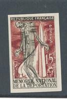 FRANCE - NON DENTELE N° 1050a) NEUF* AVEC CHARNIERE - 1956 - COTE : 30€ - Ongetand