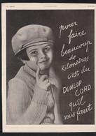 Pub Papier 1924 Automobile Pneu DUNLOP Cord Pneus Voiture Photo Enfant - Publicités