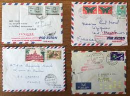 Cambodge - Lot De 12 Enveloppes Avec Censure Anti-vietcong - Année 70 à 74 - 6 Photos - (C1885) - Kambodscha