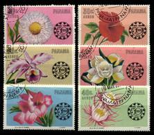 Panama 1966 Mi 856-861 Flowers. Chamber Of Commerce, 50th Anniv. CTO - Panama