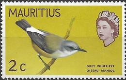 MAURITIUS 1968 Birds - 2c. - Grey White-eye MH - Mauricio (1968-...)