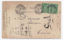 France - Algérie - Sage 5 C Vert Sur CPA - Constantine - 1877-1920: Semi-Moderne