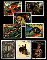 Panama 1967 Mi 1009-1016 Animal Paintings Of Famous Artists CTO (1) - Panama