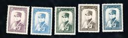 Yvert 616-620  Michel 836 à 840 Charnière - Iran