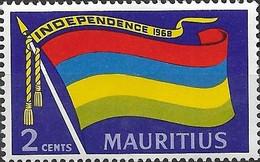 MAURITIUS 1968 Independence - 2c - Flag Of Mauritius MNH - Mauricio (1968-...)