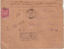 """FRANCE : N° 98 . TYPE SAGE . CHARGE . """" LE POUJOL HERAULT  """" . 1899 . - 1877-1920: Semi-Moderne"""