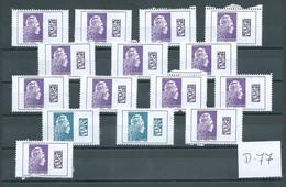 France 15x International/Europe Sans Gomme!! Valeur Faciale (D-77) - Colecciones Completas