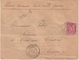 """FRANCE : N° 98 . TYPE SAGE . CHARGE . """" LE BRUNOY SEINE ET OISE  """" . 1897 . - 1877-1920: Semi-Moderne"""