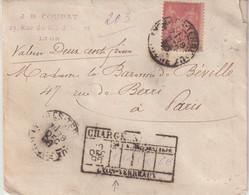"FRANCE : N° 98 . TYPE SAGE . CHARGE . "" LYON TERREAUX  "" . 1896 . - 1877-1920: Semi-Moderne"